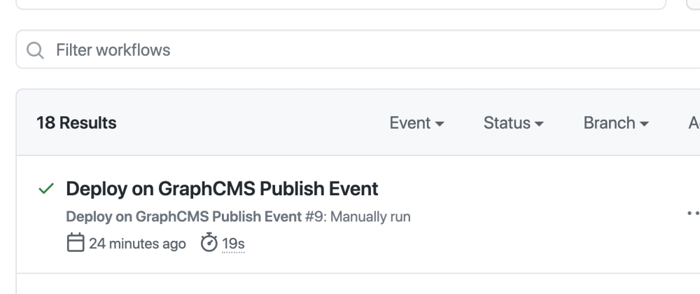Cover image for Static site builds with GitHub Actions and GraphCMS