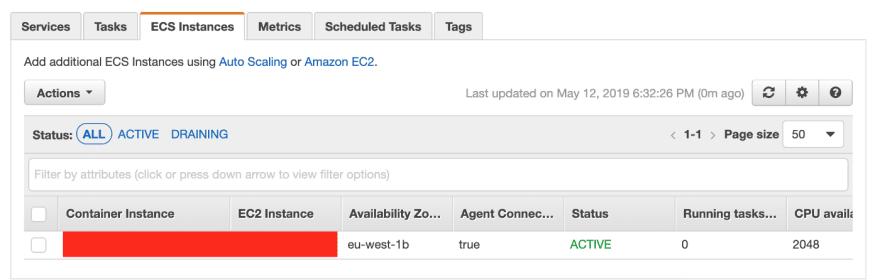 Alt EC2 instance details on ECS cluster