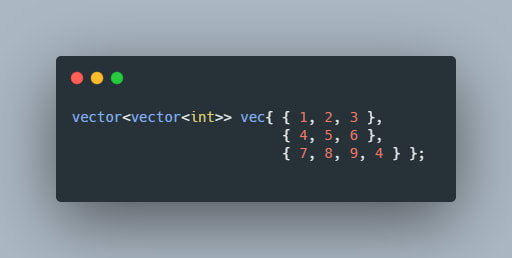initialization of vector