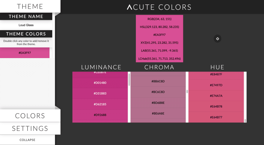 Acute Colors theme designer