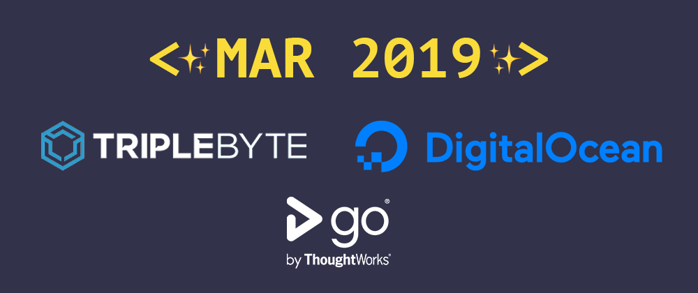 Cover image for Introducing our March 2019 sponsors