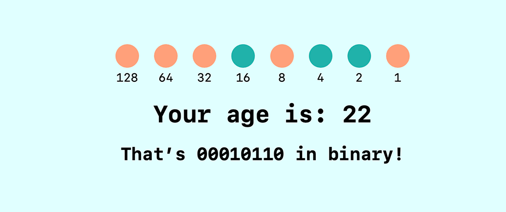 Cover image for Lockdown Fun: Your Age In Binary