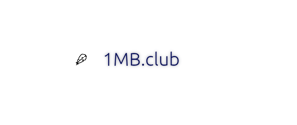 Cover image for What do you think about 1MB.club?