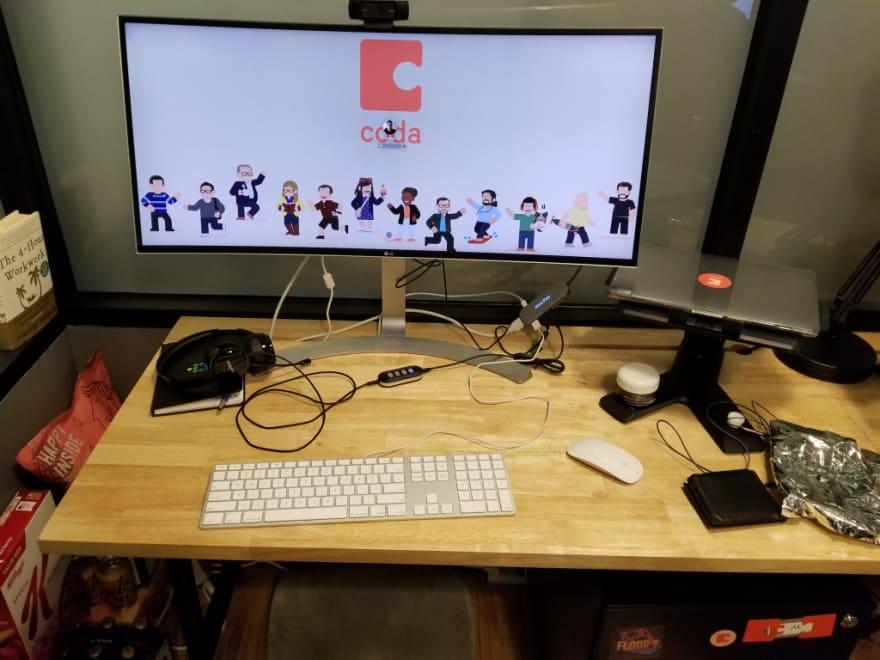 Coda office desk setup