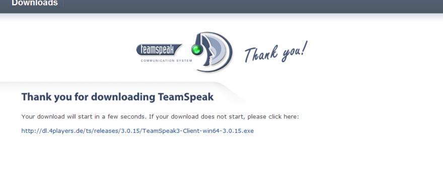 Download TeamSpeak in 5 seconds