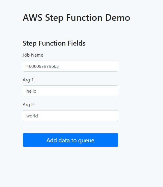 Step Function web form
