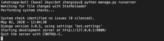 Running server on localhost
