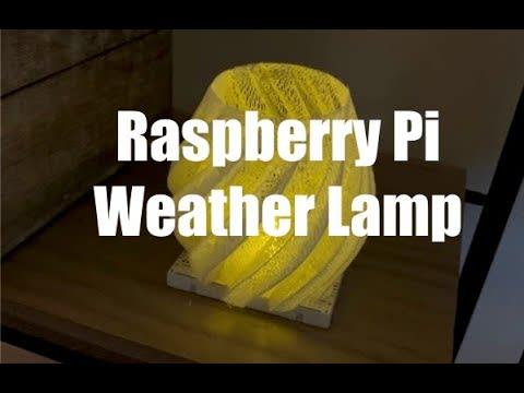Weather Lamp Raspberry Pi Video