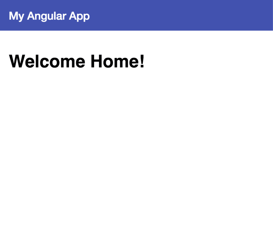 basic home page with material design