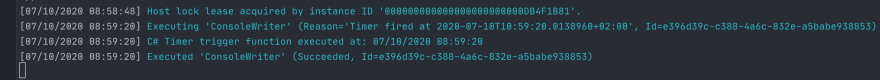 Azure Functions Log
