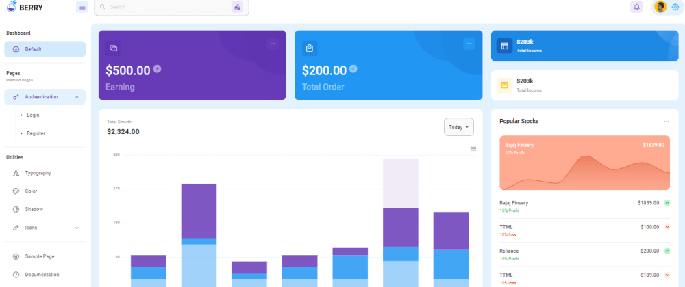 Cover image for Berry - Open-source React Dashboard Template