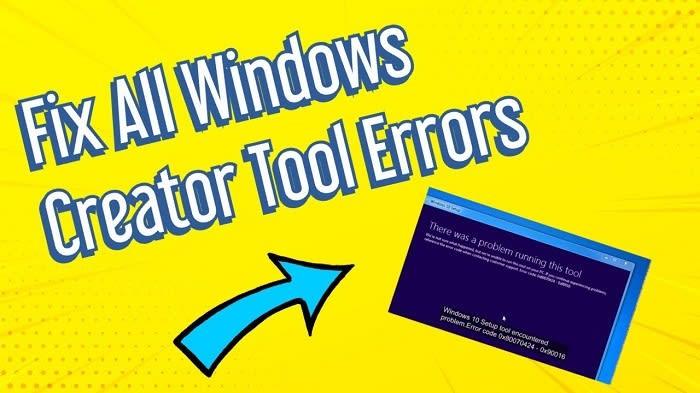 Media Creation Tool Error 0x80042405-0xa001a