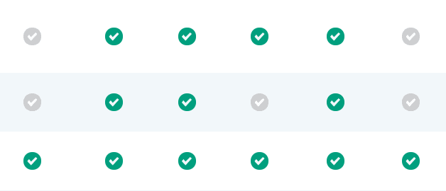 Green and Greyed-Out Checkmarks