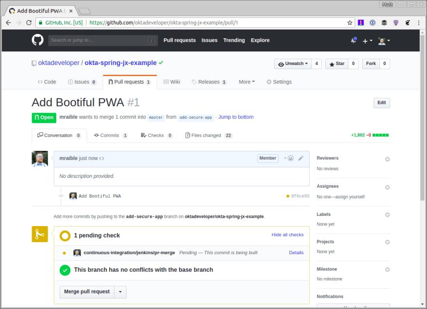 Add Bootiful PWA Pull Request
