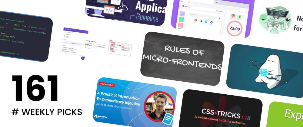 Cover image for 🔥 What's Hot in Web Development? — Weekly Picks #161