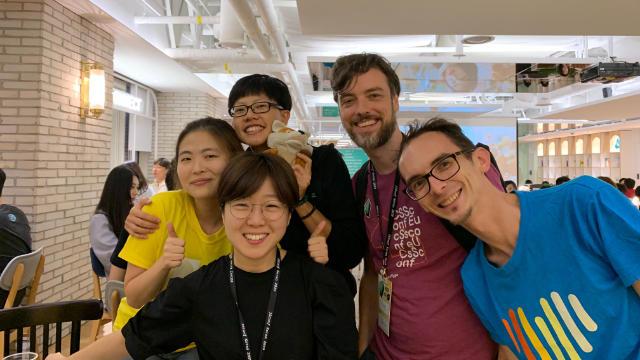 Post conference dinner at JSConf Korea