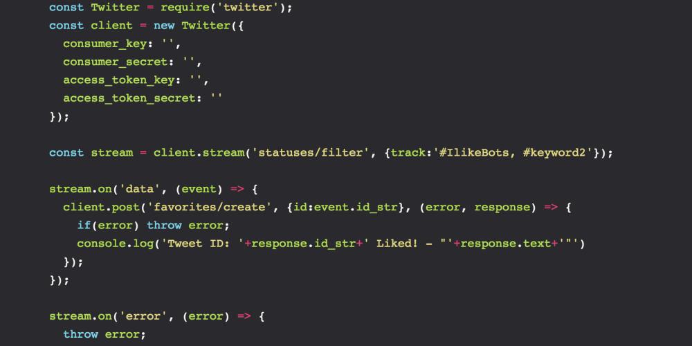 Twitter bot in 17 lines of code