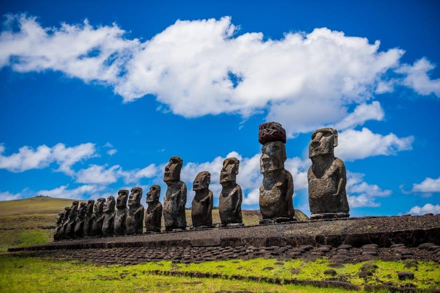 Similar statues on Easter Island