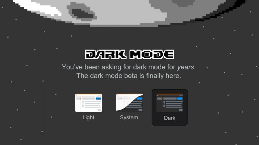 Three state Dark mode toggle on Stack Overflow