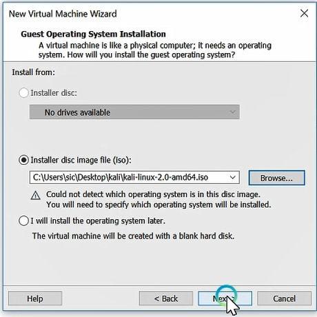 virtual machine installation format