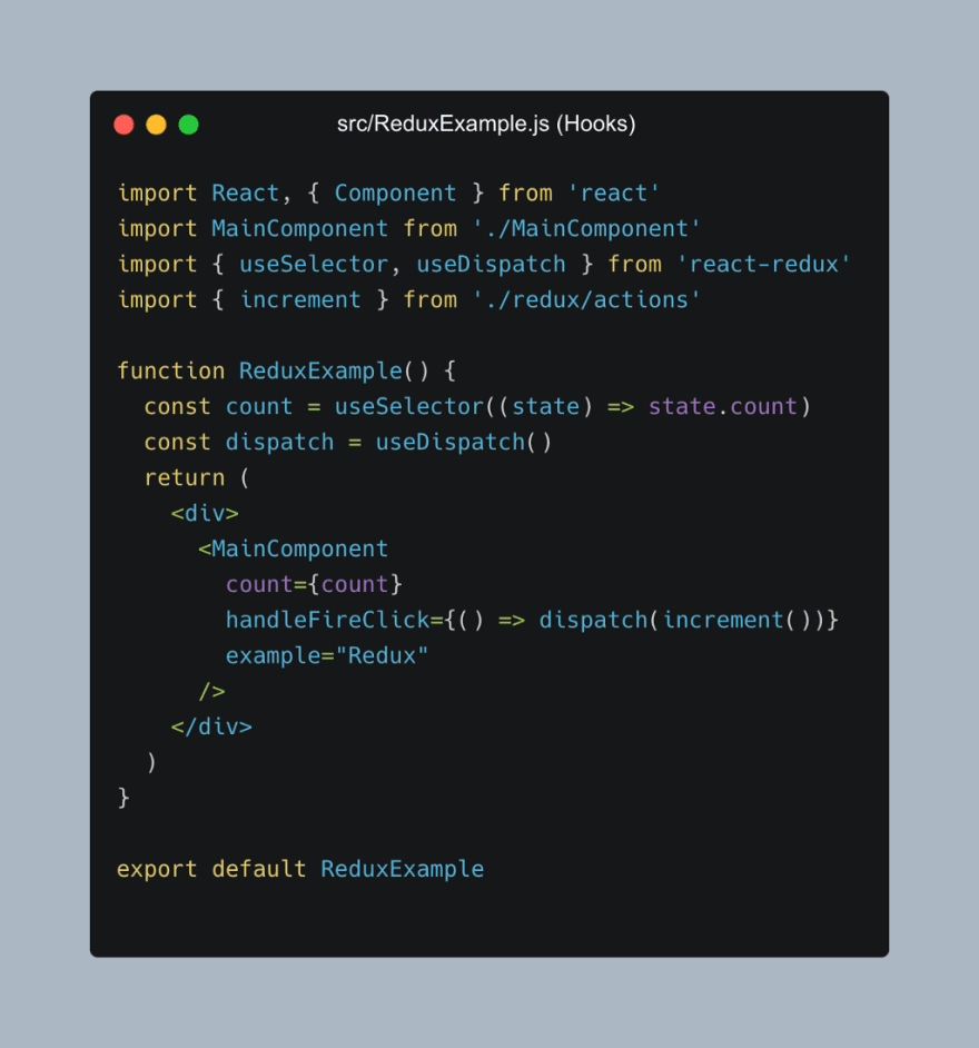 Redux with react hooks