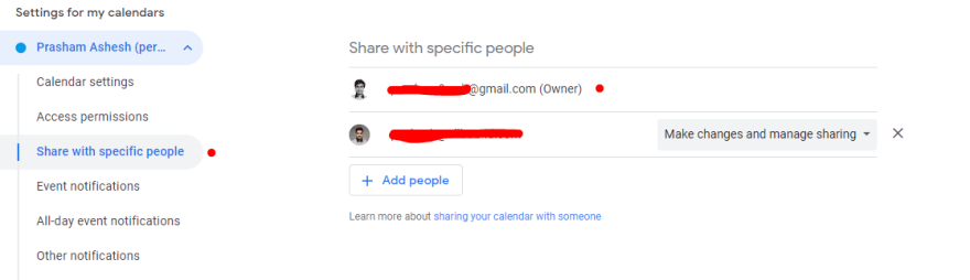 """click """"Share with Specific People"""""""