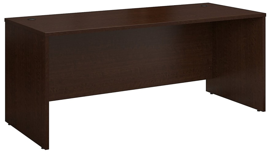 Bush Business Furniture Series C 72W x 30D Office Desk in Mocha Cherry