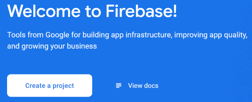 Creating a new Firebase project