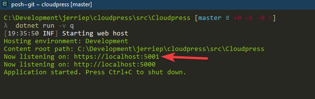 Run your ASP.NET Core application