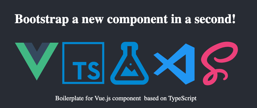 Cover image for Boilerplate for Vue.js component on TypeScript