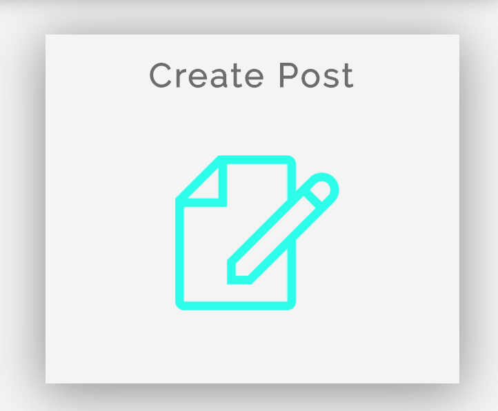 Create a post button