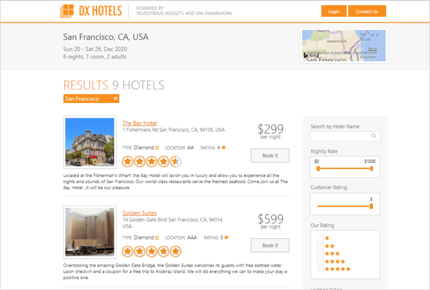 devextreme-hotel-booking
