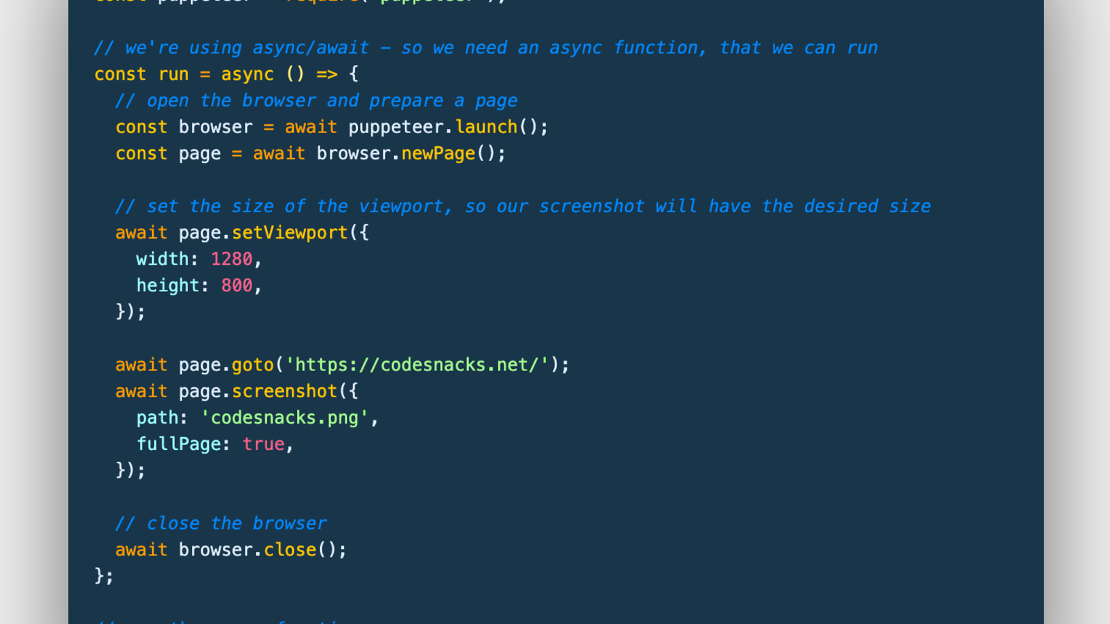 How To Take A Screenshot Of A Webpage With Javascript In Node Js Using Puppeteer Dev Community