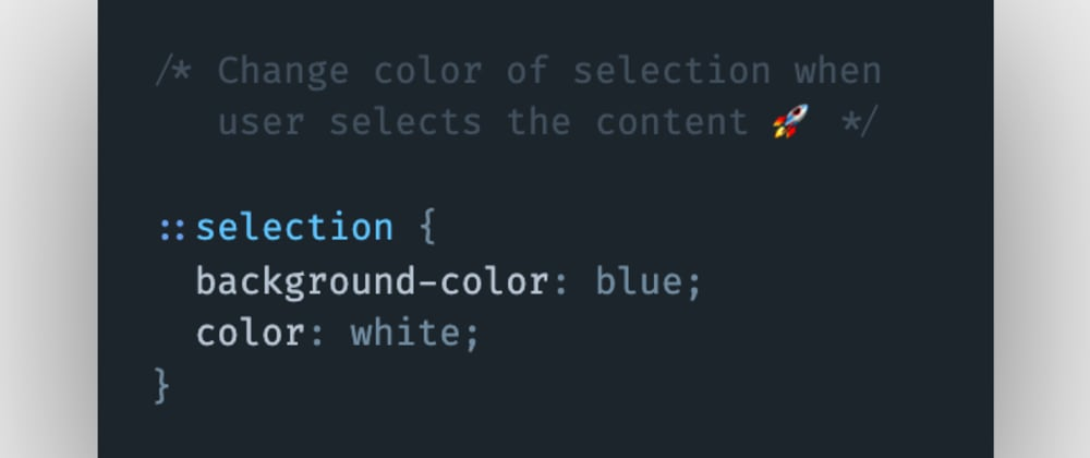 Cover image for How to change the selection color when the user selects content using a mouse pointer or cursor in CSS?