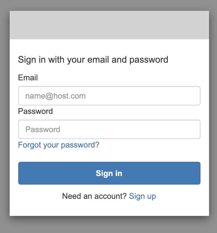 Cognito Hosted UI Sign In