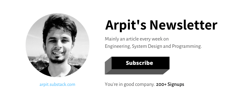 Subscribe to Arpit's newsletter