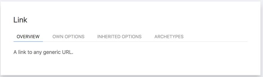 link menu item