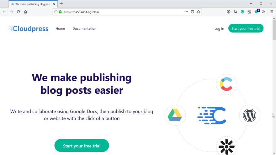 Accessing the application via a public URL