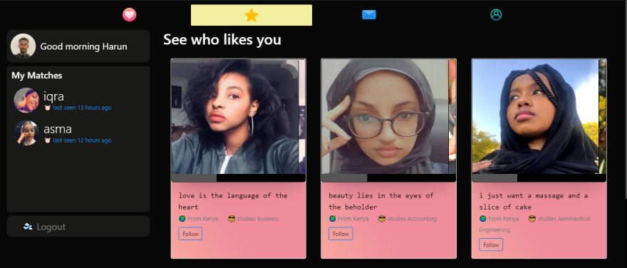See who likes you