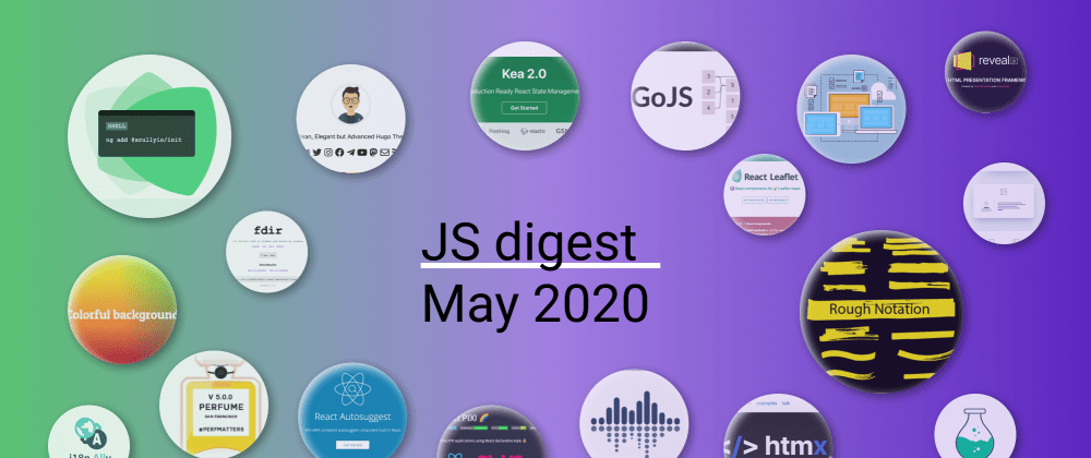 Cover image for 33 Most popular JS repositories on GitHub in May 2020