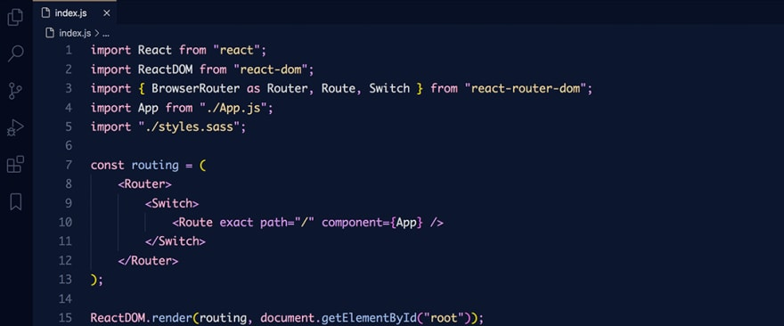 React code snippet with the Overnight - Slumber theme