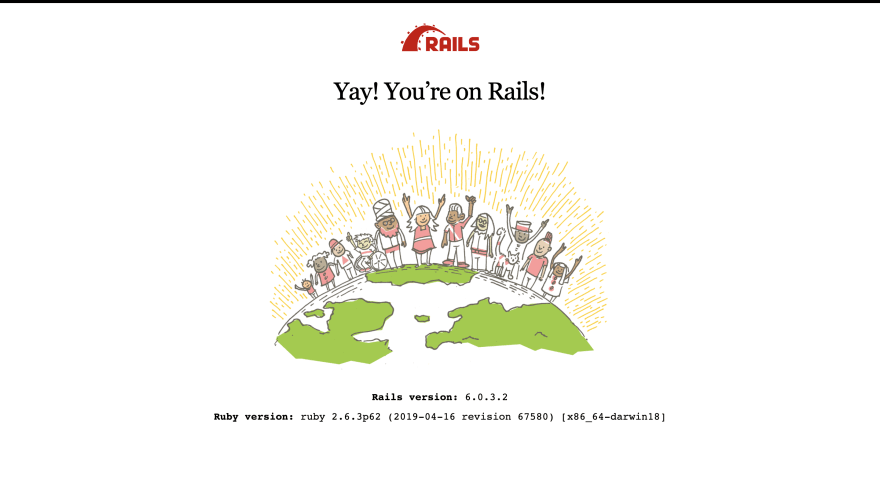 Rails default welcome page