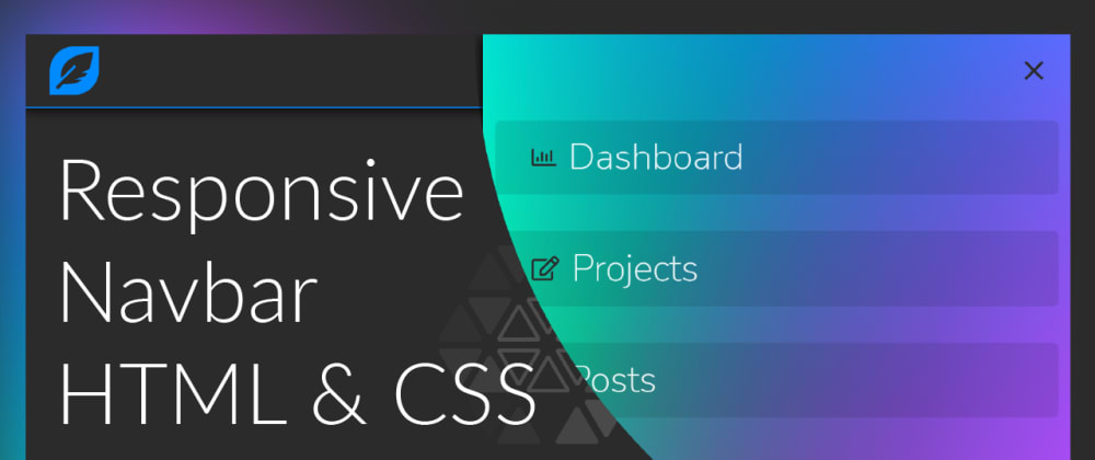 Cover image for Let's build a responsive navbar from scratch
