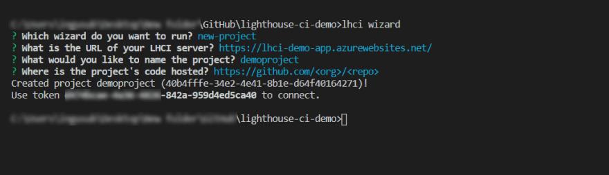 Lighthouse CI Wizard Screenshot