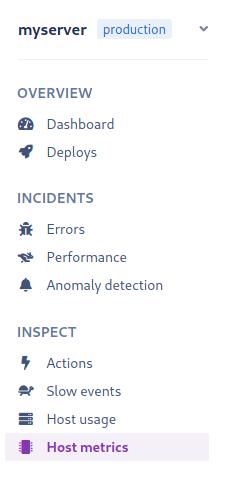 Hosts metrics dashboard location