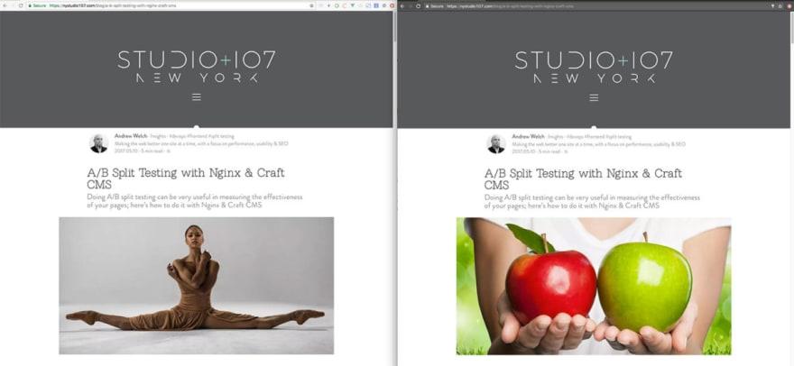 Side By Side Split Test Deux