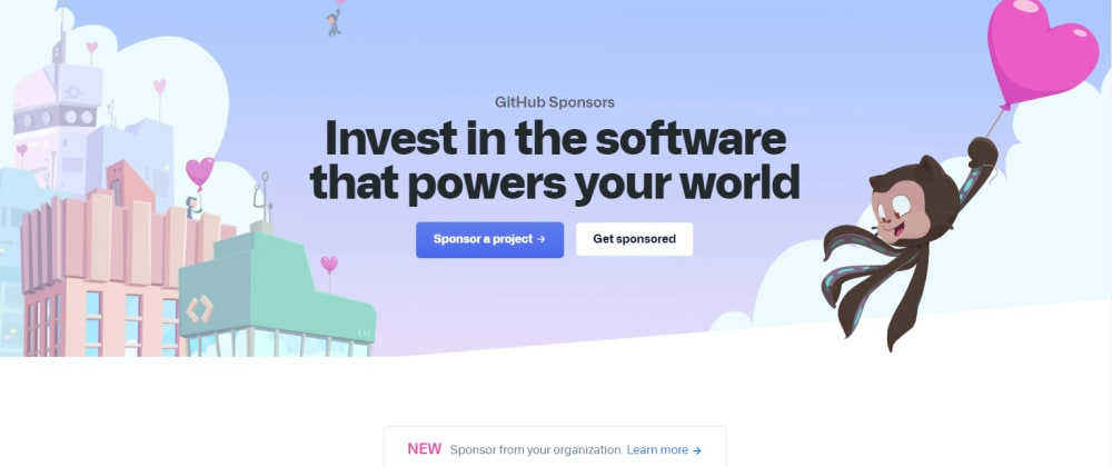 Cover image for GitHub Sponsors now allows one-time and customizable donations! 🎉