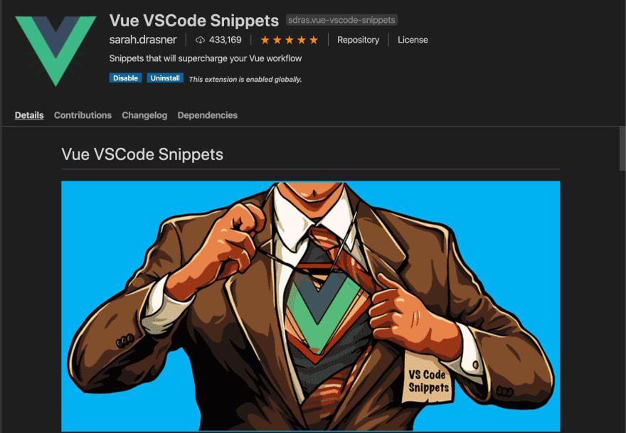 Vue VSCode Snippets