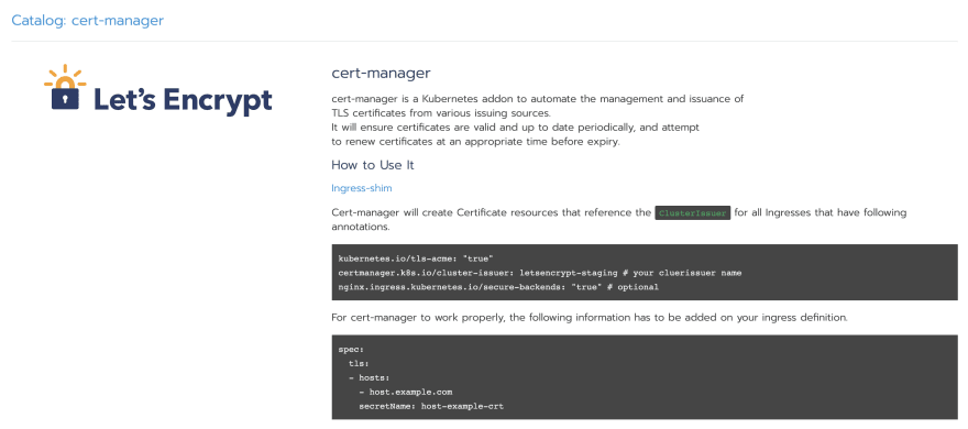 Cert manager instructions