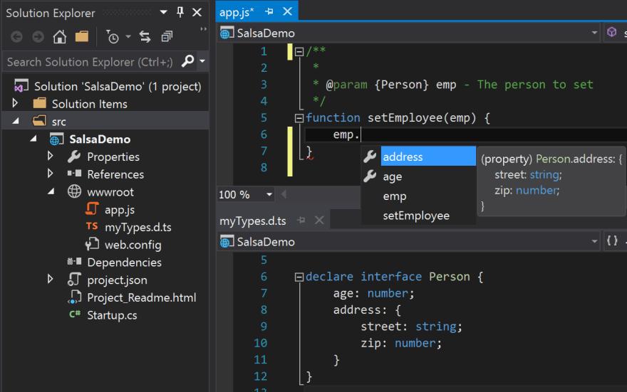JSdoc + typescript